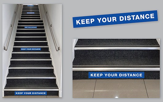 Keep Your Distance Staircase Labels