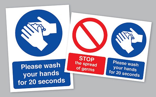 Coronavirus Wash Your Hands Sticker