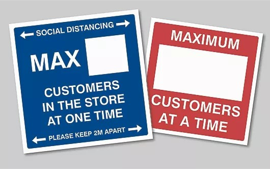 Max Customers Shop Sticker